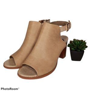 MUK LUKS Marina Chunky Heel Sandals
